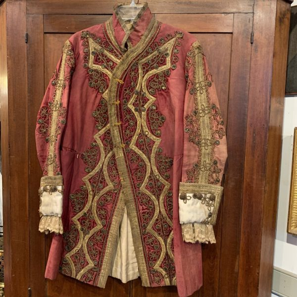 Elaborately Decorated Red Velvet Coat, Russian Livery?