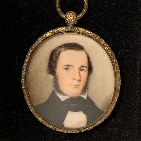 Miniature Portrait of a Blue Eyed Gentleman