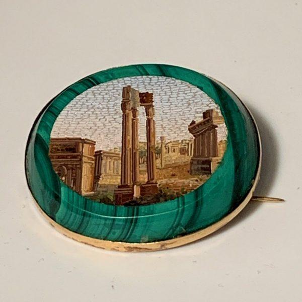 Micro-Mosaic Brooch, Temple of Vespasian, Forum Romanum