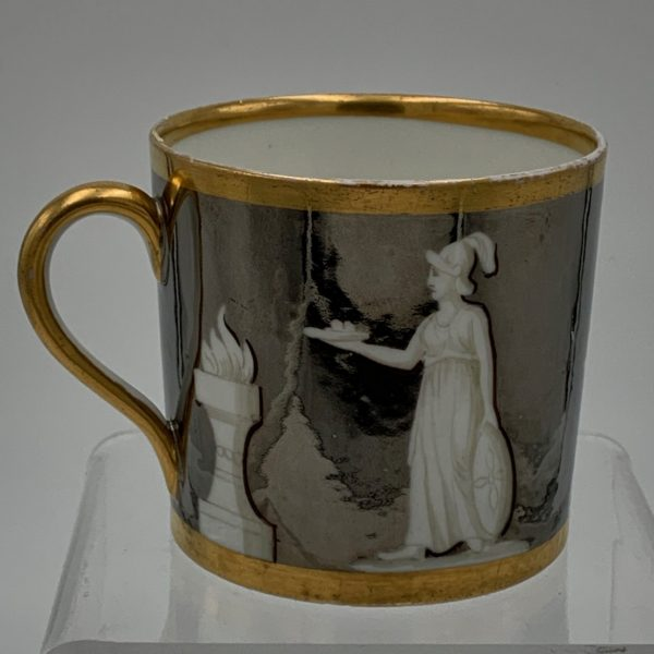 Old Paris Neoclassical Lustreware Cup/Can