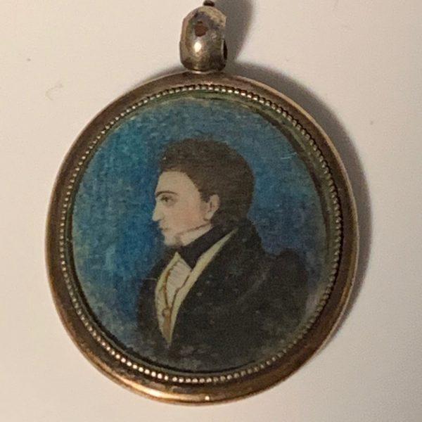 Small, Folky Miniature Portrait