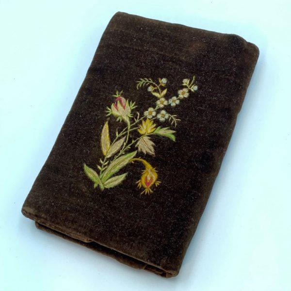 Embroidered Velvet Purse/Pocketbook