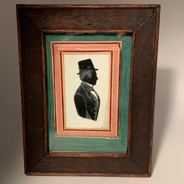 Painted Silhouette, Man in Top Hat, 1844