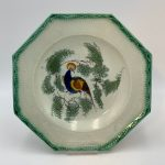 image of English Pearlware Peafowl Shell Edge Plate