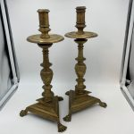 image of Early English Brass Candlestick