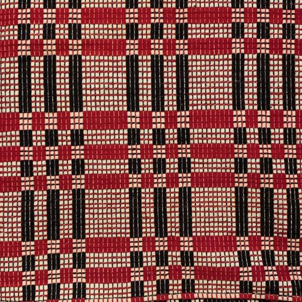 Early American Overshot Coverlet
