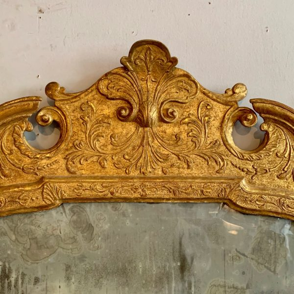 English Queen Anne Giltwood Mirror