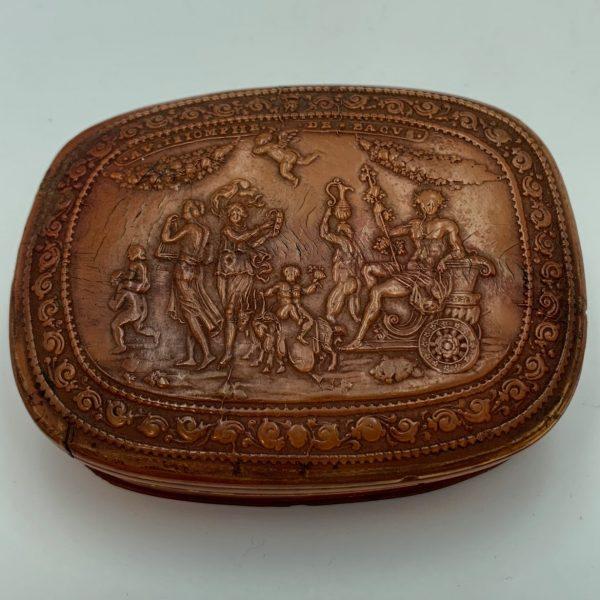 "Horn Snuff Box, ""The Triumph of Bacchus"""
