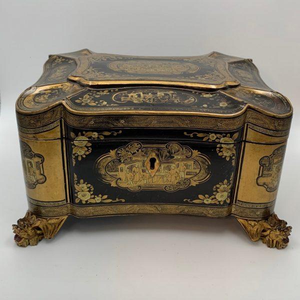 A Fabulous China Trade Lacquerware Box