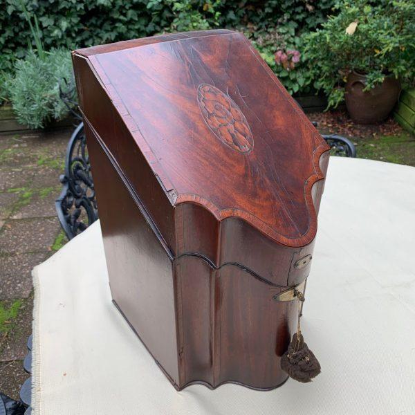 English Hepplewhite Mahogany Knife Box