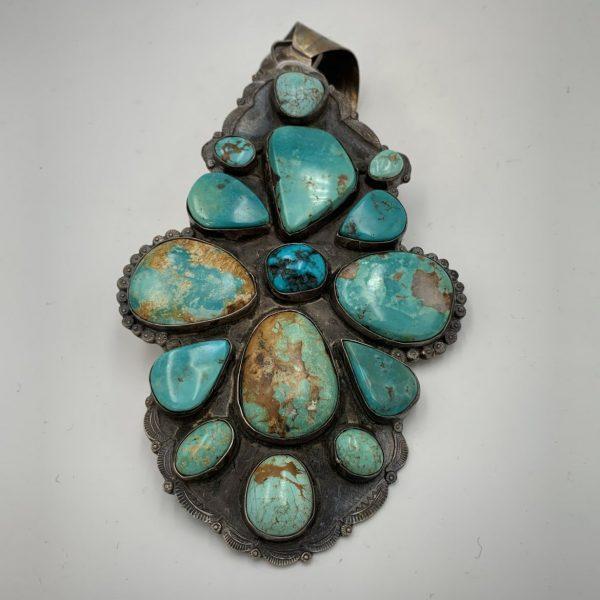 An Impressive Old Navajo or Hopi Breast Plate/Pendant
