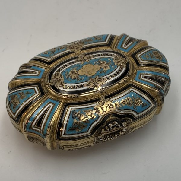 Enameled and Gilt Silver Box