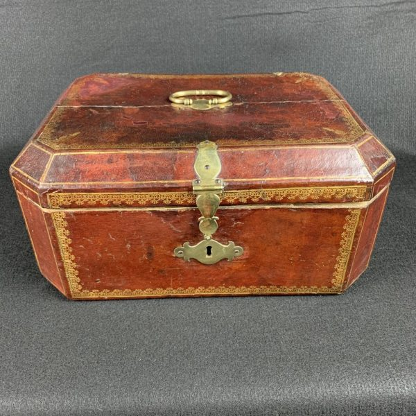 French Gilt Tooled Red Leather Box