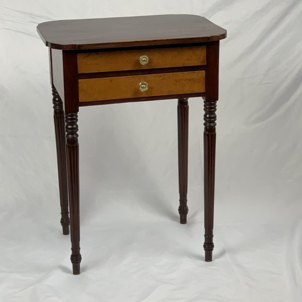 Mahogany and Maple Two Drawer Stand