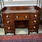 image of Mahogany and Maple Two Drawer Stand