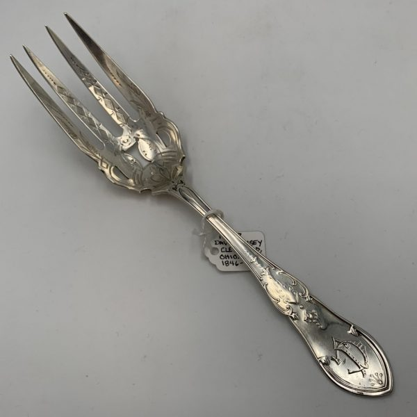 An Exceptional Victorian Serving Fork, David Kinsey, Cleveland, Oh