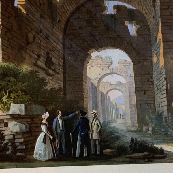 Ruins Le Palais Gallien, Bordeaux, Watercolor