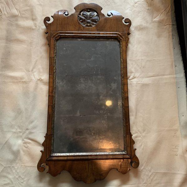 Early Georgian Walnut Mirror