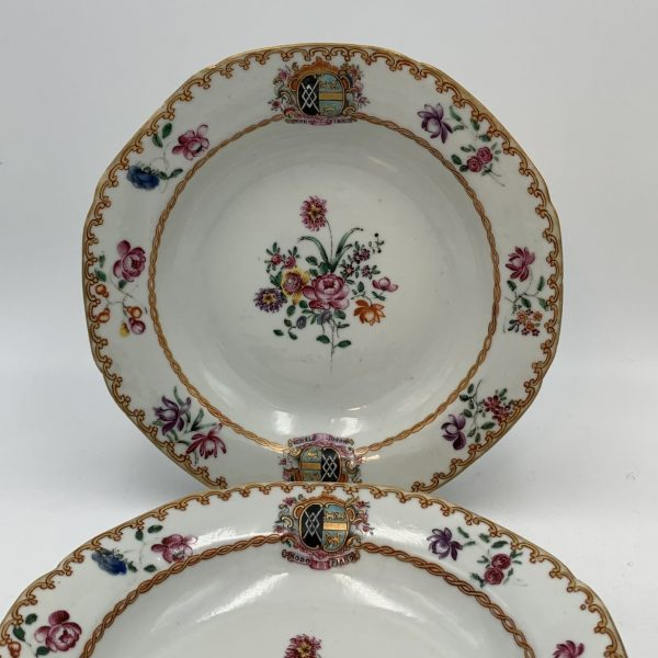 Chinese Export Armorial Porcelain, Arms of Harrington impaling Rockley