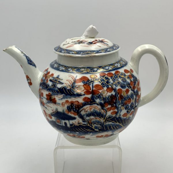 "Worcester Porcelain ""Cannonball"" Pattern Teapot"