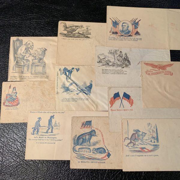 Civil War Period Patriotic Envelopes