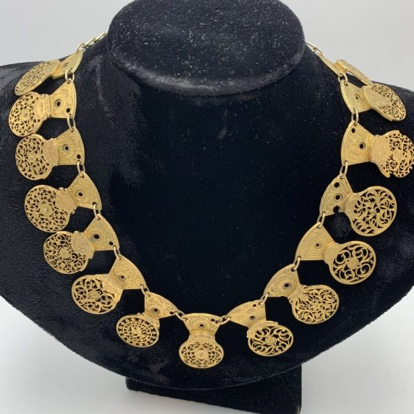 Victorian Gilt Watch Cock Necklace