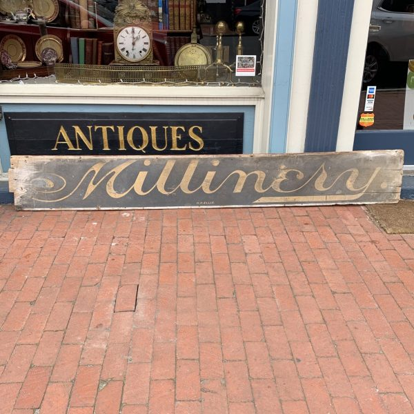 "Fredericksburg ""Millinery"" Sign"