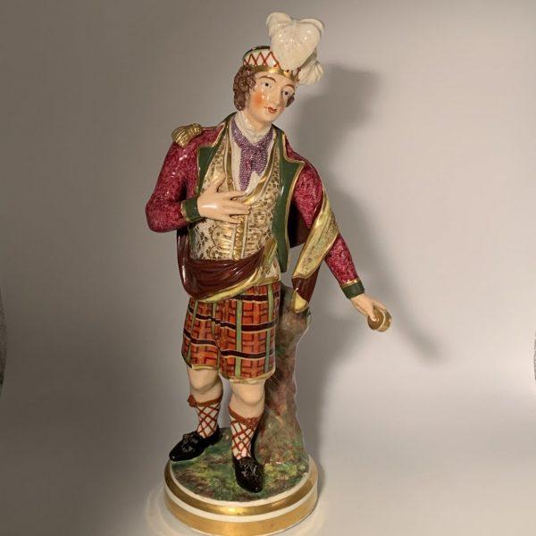 Derby Porcelain Figure of a Scotsman