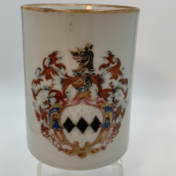 Chinese Export Porcelain Cann or Mug with The Arms of George Pigot