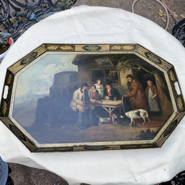 The Swan Tavern on an English Tole Tray