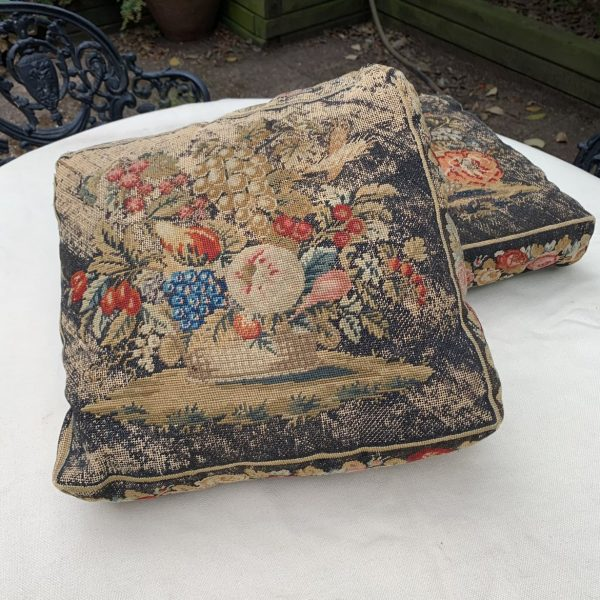 A Pair of Victorian Needlepoint Pillows