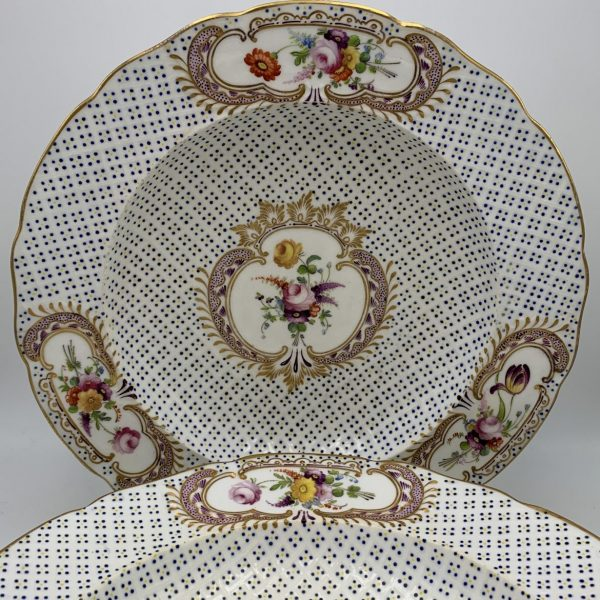 Coalport Floral and Relief Moulded Soups