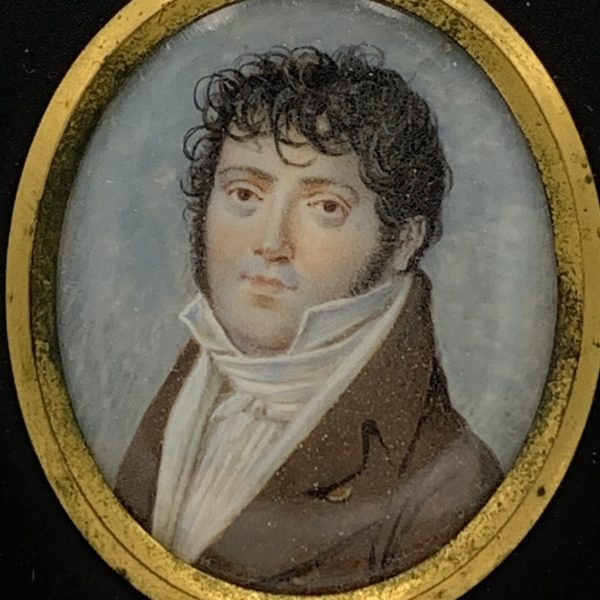 Young Gent with Curly Hair, Miniature Portrait