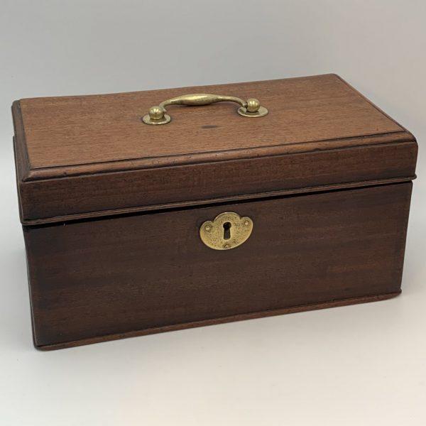 Georgian Mahogany Tea Caddy with Original Interior Boxes