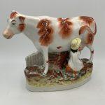image of Pearlware Milkmaid Figure.