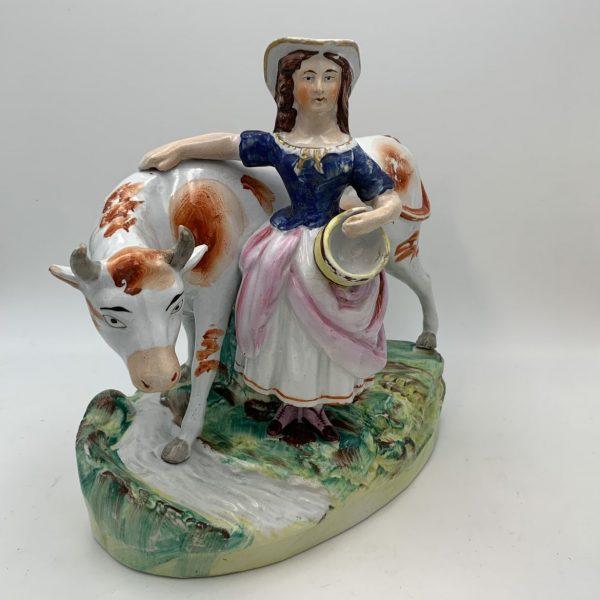 Pearlware Milkmaid Figure.