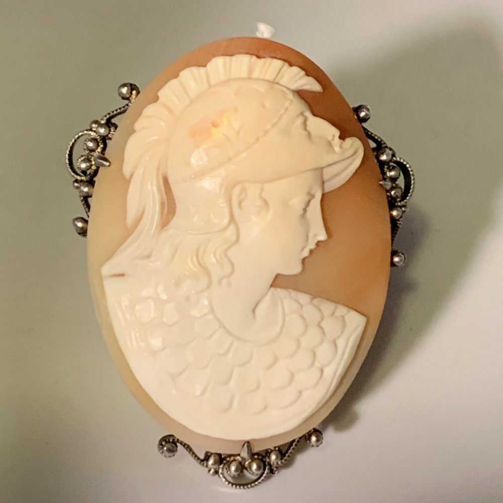 Athena, Shell Cameo in Silver