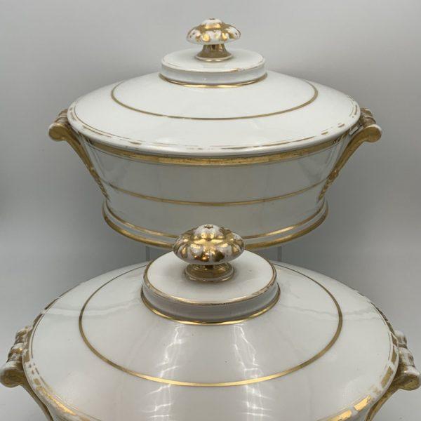Old Paris Porcelain Covered Dishes, L. M. F. Rihouet