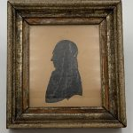 image of German Silhouette, Gilt Eglomise Mat and Brass Frame