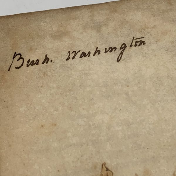Bushrod Washington Signed Book