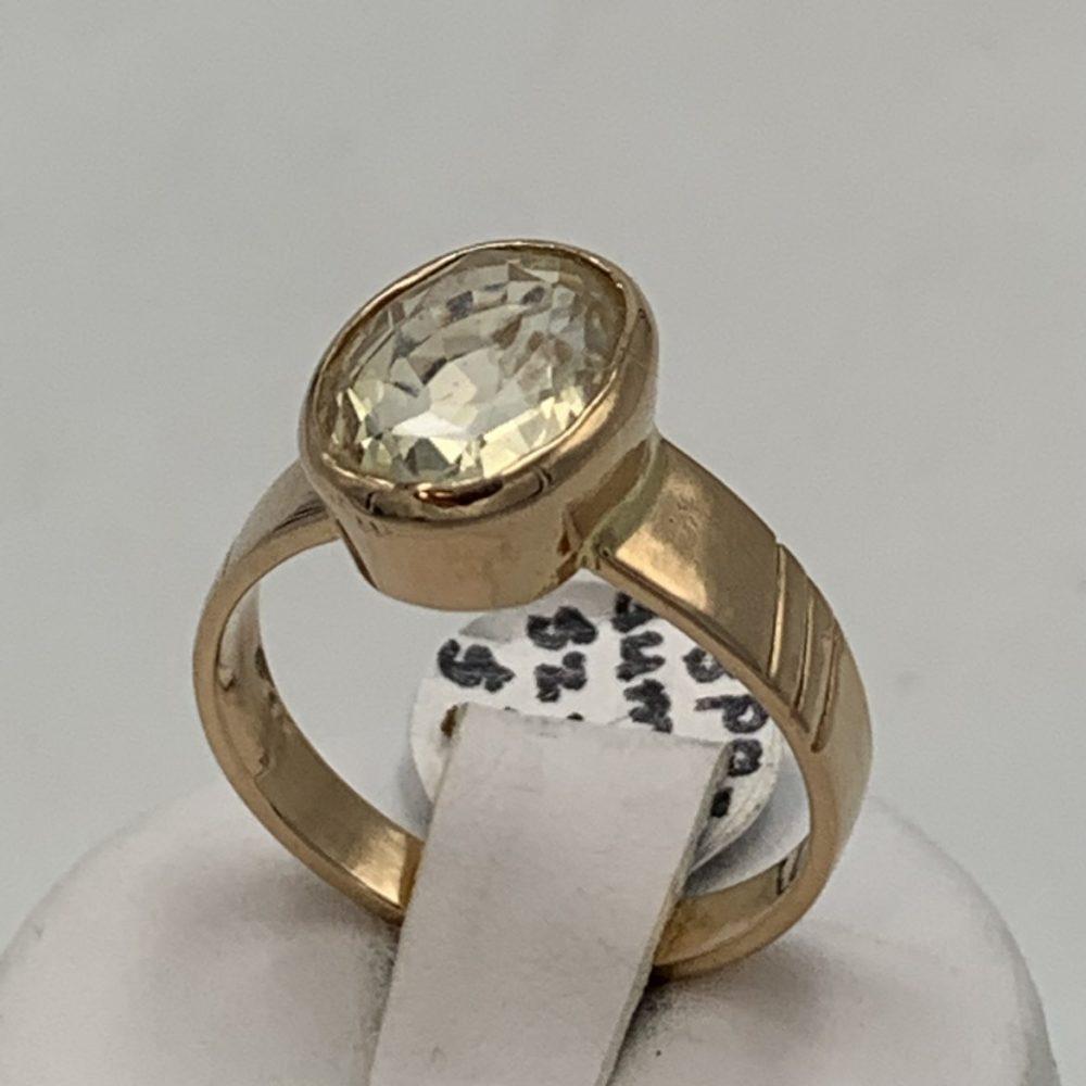 Spodumene and 14k gold Ring