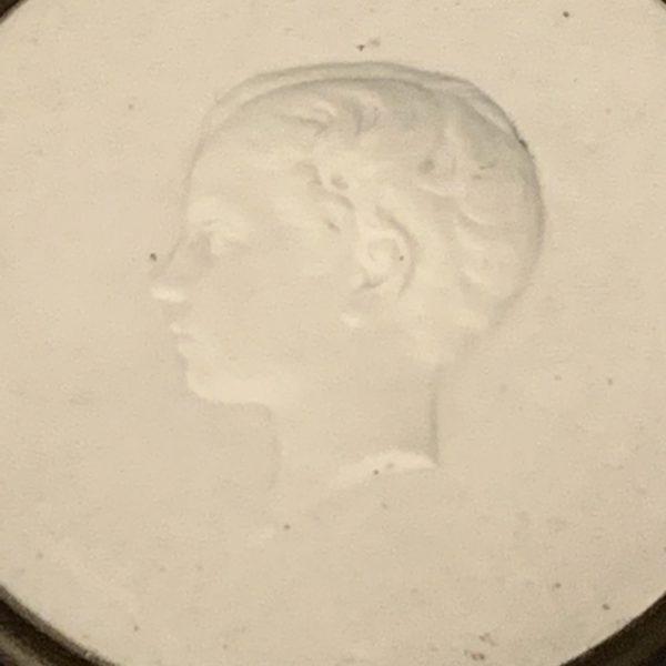 Louis-Napoleon, The Prince Imperial, Sevres Biscuit Porcelain Medallion