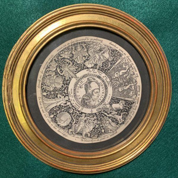 Theodor de Bry, Pride & Folly Tazza Design Engraving