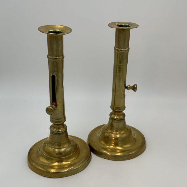 Brass Push Up Candlesticks