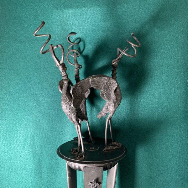 Grand Tour Roman Style Bronze Lamp Stand