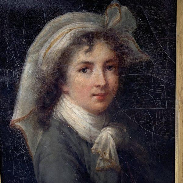 Vigee LeBrun, The St. Luca Self Portrait, A Copy Signed Bianchini