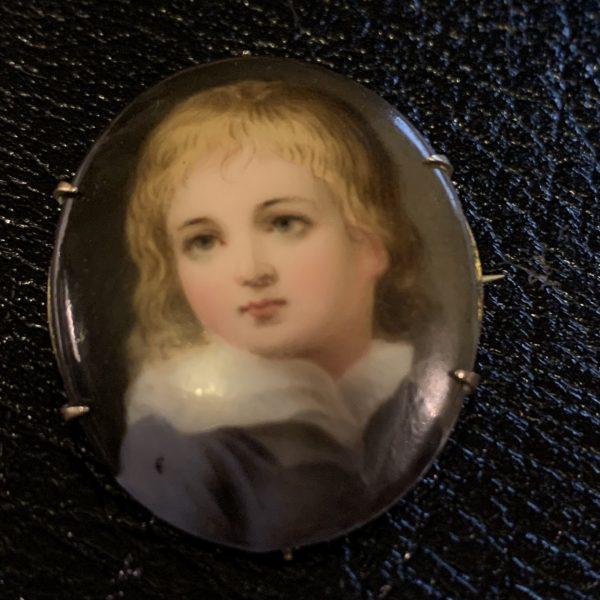 Victorian Miniature on Porcelain