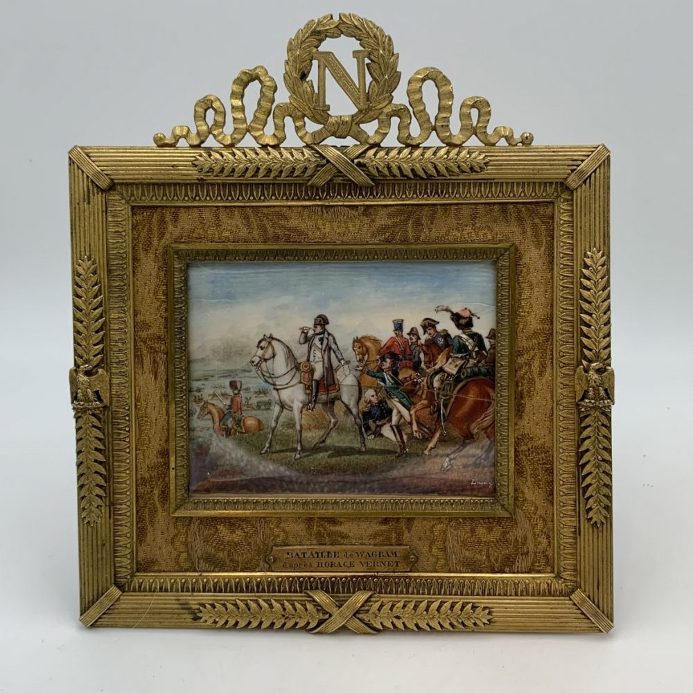 Napoleon at Wagram, a Miniature After Horace Vernet