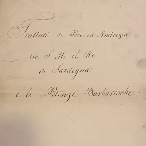 Treaty of Peace With Sardinia and the Barbary Powers