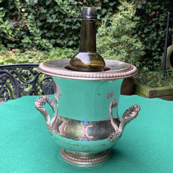 """French """"Sheffield Plate"""" Wine Cooler"""